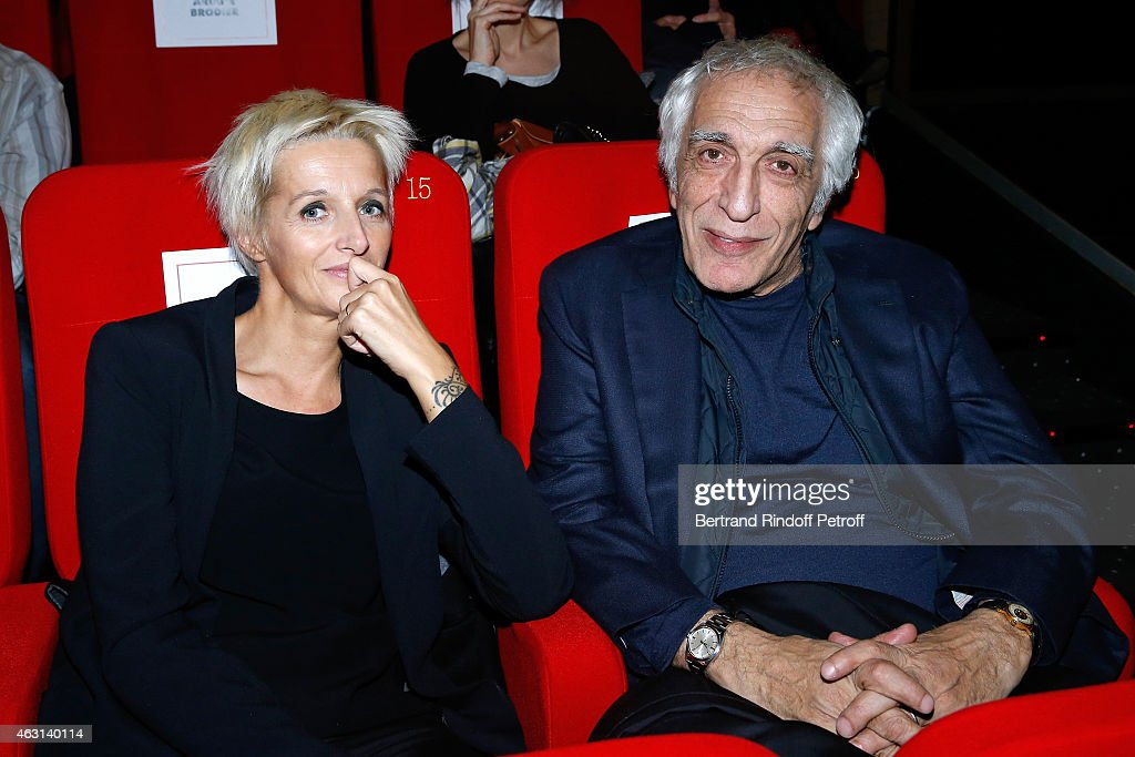 Actor Gerard Darmon et guest attend the 'Bis' Movie Paris Premiere at Cinema Gaumont Capucine on February 10, 2015 in Paris, France.