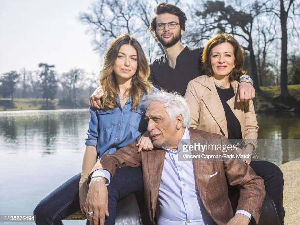 Actor Gerard Darmon with his children Sarah Jules and Virginie are photographed for Paris Match on February 27 2019 in Paris France
