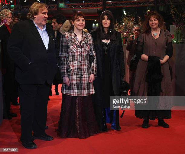 Actor Gerard Depardieu actress Miss Ming actress Isabelle Adjani and actress Yolande Moreau attend the 'Mammuth' Premiere during day nine of the 60th...