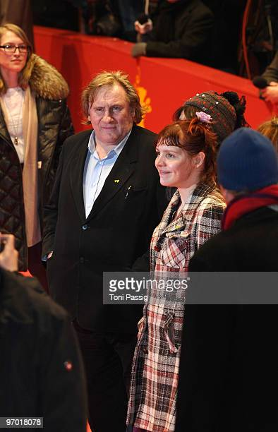 Actor Gerard Depardieu and actress Miss Ming attend the 'Mammuth' Premiere during day nine of the 60th Berlin International Film Festival at the...