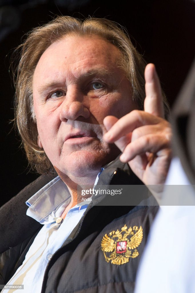 Actor Gerard Depardieu at the Angers Film Festival 'Premiers Plans 2015 for the presentation of the film 'Going Places' (French 'Les Valseuses'), within the framework of a retrospective dedicated to Bertrand Blier ().