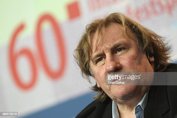 Actor Gerard Depardieu attends the 'Mammuth' Press Conference during day nine of the 60th Berlin International Film Festival at the Grand Hyatt Hotel...