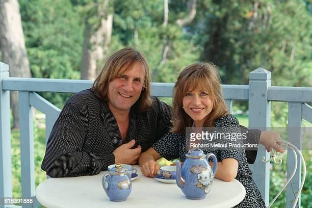 Actor Gerard Depardieu with His Wife Elizabeth