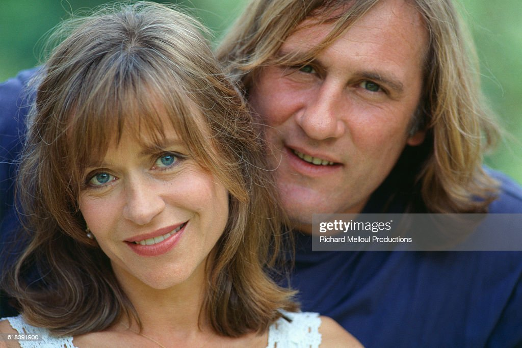 Actor Gerard Depardieu with His Wife Elizabeth : Photo d'actualité