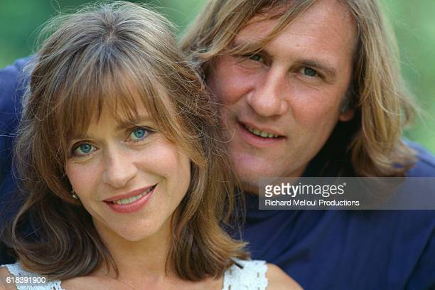 Actor Gerard Depardieu with His Wife Elizabeth