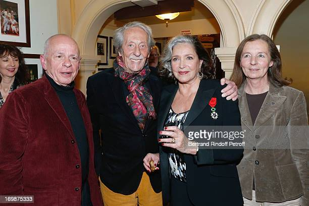 Actor Gerard Lartigau Francoise Fabian Actor Jean Rochefort and his wife Francoise attend the delivery of the medal of the Legion of Honor to actress...