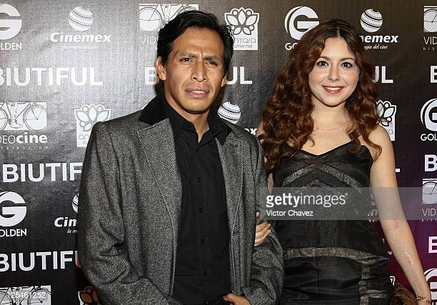 Actor Gerardo Taracena and Diana Povio attend the Mexico City Premiere of Biutful at Cinemex Antara Polanco on October 18 2010 in Mexico City Mexico