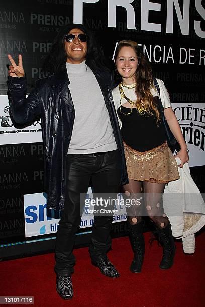 Actor Gerardo Taracena and Thalia Otorrondon attend the Danna Press anniversary party at Gretta on October 28 2011 in Mexico City Mexico