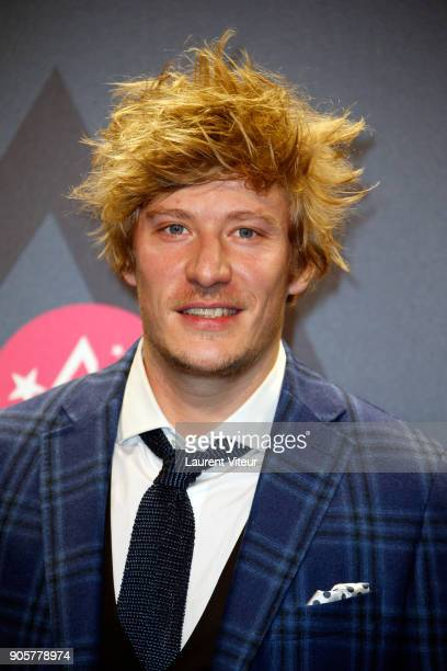Actor Geremy Credeville attends Opening Ceremony during the 21st L'Alpe D'Huez Comedy Film Festival on January 16 2018 in Alpe d'Huez France