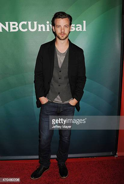 Actor Gethin Anthony attends the 2015 NBCUniversal Summer Press Day held at the The Langham Huntington Hotel and Spa on April 02, 2015 in Pasadena,...