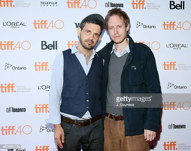 Actor Geza Rohrig and director Laszlo Nemes attend the Son Of Saul Photo Call during the 2015 Toronto International Film Festival at the Ryerson...