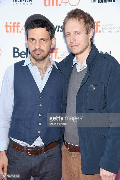 Actor Geza Rohrig and director Laszlo Nemes attends the Son Of Saul photo call during the 2015 Toronto International Film Festival at Ryerson Theatre...