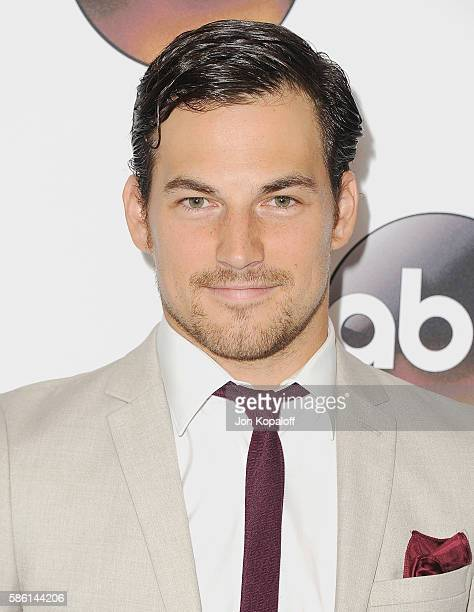 Actor Giacomo Gianniotti arrives at Disney ABC Television Group Hosts TCA Summer Press Tour at the Beverly Hilton Hotel on August 4 2016 in Beverly...