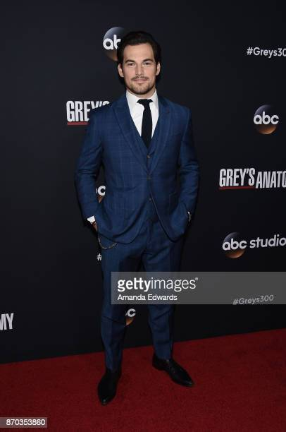 Actor Giacomo Gianniotti arrives at the 300th Episode Celebration for ABC's 'Grey's Anatomy' at TAO Hollywood on November 4 2017 in Los Angeles...