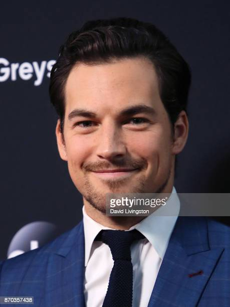 Actor Giacomo Gianniotti attends the 300th episode celebration for ABC's 'Grey's Anatomy' at TAO Hollywood on November 4 2017 in Los Angeles...
