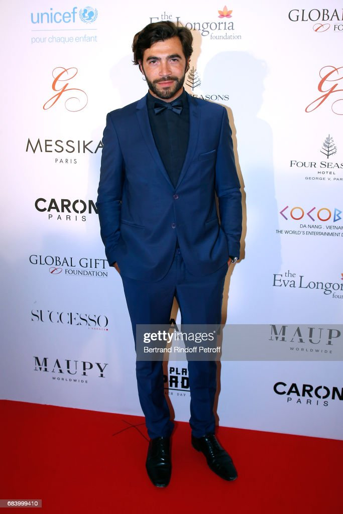 Actor Gian Marco Tavani attends the 'Global Gift, the Eva Foundation' Gala : Photocall at Hotel George V on May 16, 2017 in Paris, France.