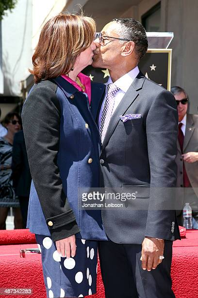Actor Giancarlo Esposito and Joy McManigal attend the ceremony honoring Giancarlo Esposito with a Star on the Hollywood Walk of Fame on April 29 2014...