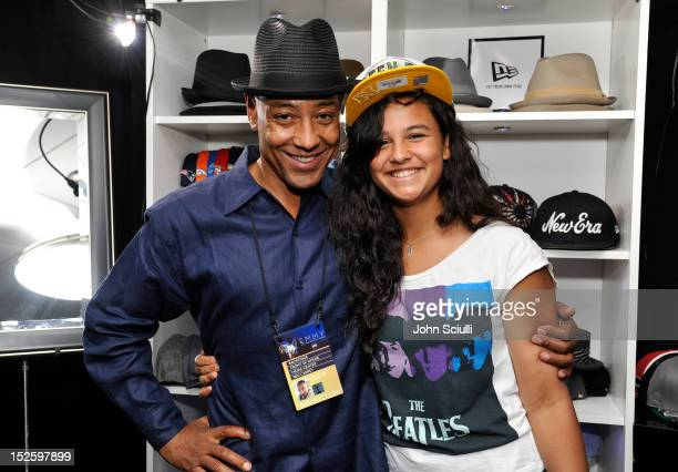 Actor Giancarlo Esposito and Shayne Lyra Esposito attend the Presenters Gift Lounge Backstage in celebration of the 64th Primetime Emmy Awards...