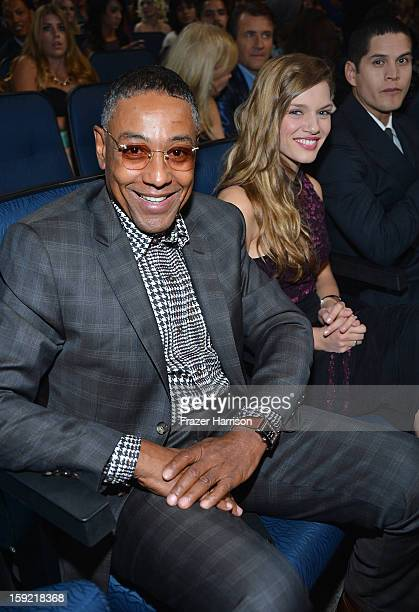 Actor Giancarlo Esposito and Tracy Spiridakos in the audience at the 39th Annual People's Choice Awards at Nokia Theatre LA Live on January 9 2013 in...