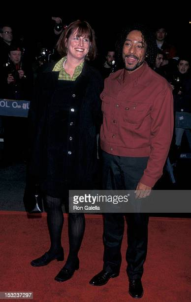 Actor Giancarlo Esposito and wife Joy McManigal attend the premiere of Twilight on February 18 1998 at the Beekman Theater in New York City