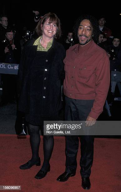 Actor Giancarlo Esposito and wife Joy McManigal attend the premiere of 'Twilight' on February 18 1998 at the Beekman Theater in New York City