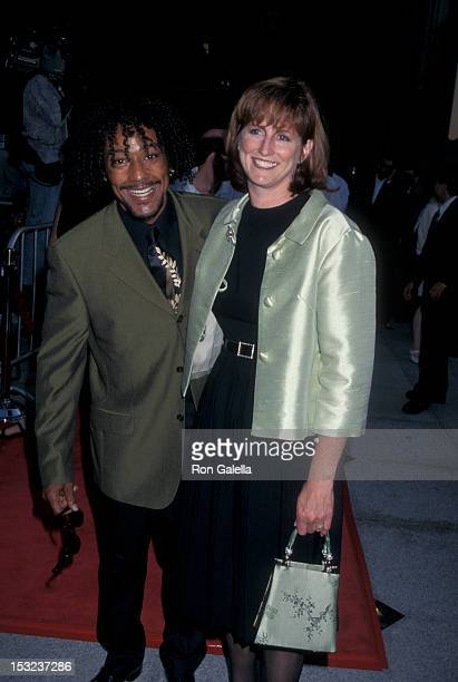 Actor Giancarlo Esposito and wife Joy McManigal attend the world premiere of Nothing To Lose on July 8 1997 at the Avco Cinema Center in Westwood...