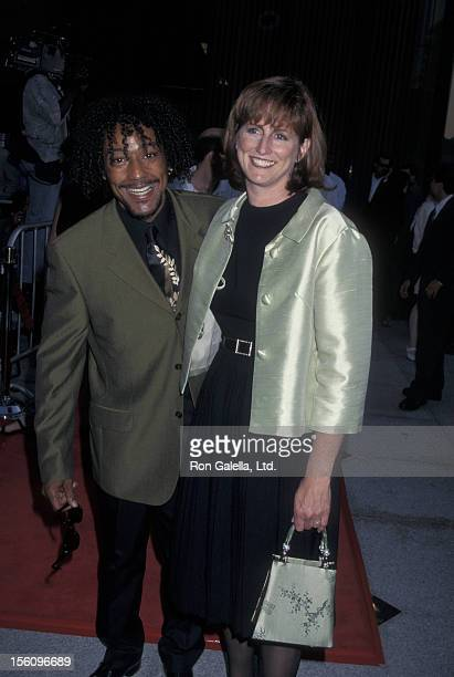 Actor Giancarlo Esposito and wife Joy McManigal attend the world premiere of 'Nothing To Lose' on July 8 1997 at the Avco Cinema Center in Westwood...