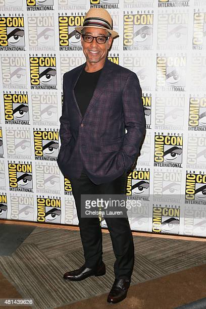 Actor Giancarlo Esposito arrives at the 'Maze Runner' press room on July 11 2015 in San Diego California