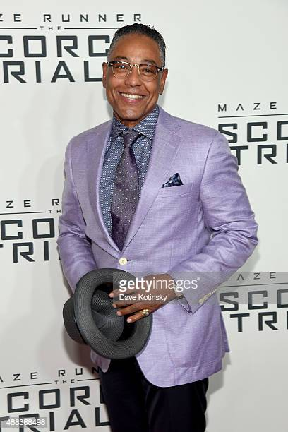 Actor Giancarlo Esposito attends Maze Runner The Scorch Trials New York Premiere at Regal EWalk on September 15 2015 in New York City