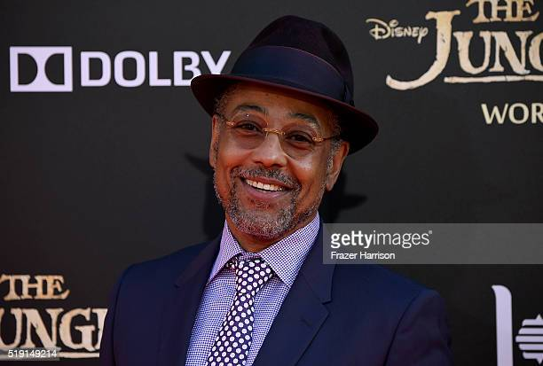 Actor Giancarlo Esposito attends the premiere of Disney's The Jungle Book at the El Capitan Theatre on April 4 2016 in Hollywood California