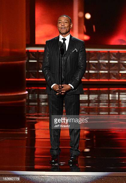 Actor Giancarlo Esposito onstage during the 64th Primetime Emmy Awards at Nokia Theatre LA Live on September 23 2012 in Los Angeles California