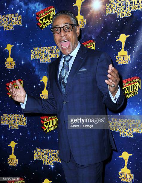 Actor Giancarlo Esposito poses in the pressroom at the 42nd annual Saturn Awards at The Castaway on June 22 2016 in Burbank California