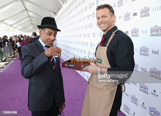Actor Giancarlo Esposito seen enjoying a Jameson and ginger prior to the 2012 Film Independent Spirit Awards at Santa Monica Pier on February 25 2012...