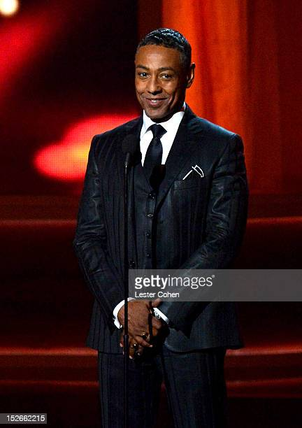 Actor Giancarlo Esposito speaks onstage at the 64th Primetime Emmy Awards at Nokia Theatre LA Live on September 23 2012 in Los Angeles California