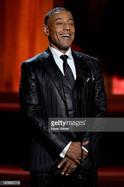 Actor Giancarlo Esposito speaks onstage during the 64th Annual Primetime Emmy Awards at Nokia Theatre LA Live on September 23 2012 in Los Angeles...
