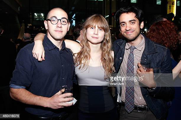 Actor Gideon Patinkin Playwright Annie Baker and Raky Sastri attends The 2013 Steinberg Playwright Mimi Awards presented by The Harold and Mimi...