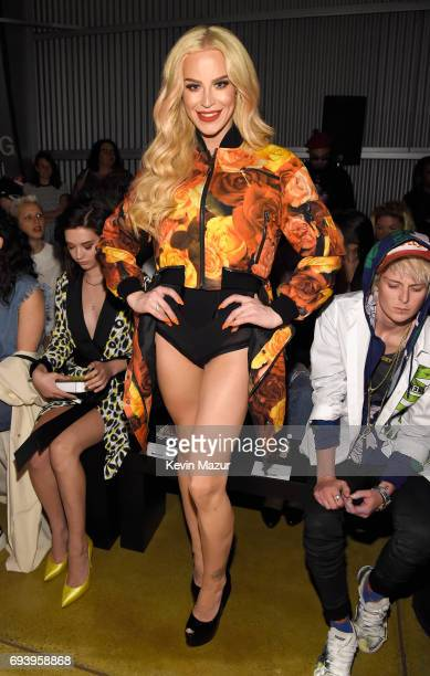 Actor Gigi Gorgeous attends Moschino Spring/Summer 18 Menswear and Women's Resort Collection at Milk Studios on June 8 2017 in Hollywood California