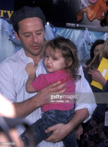 Actor Gil Bellows and daughter Ava Bellows attend the Cinderella II Dreams Come True Hollywood Premiere on February 23 2002 at El Capitan Theatre in...