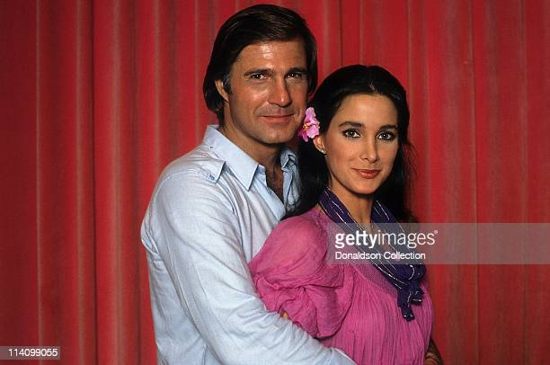 Actor Gil Gerard and Actress Connie Sellecca pose for a portrait in c.1985 in Los Angeles, California.