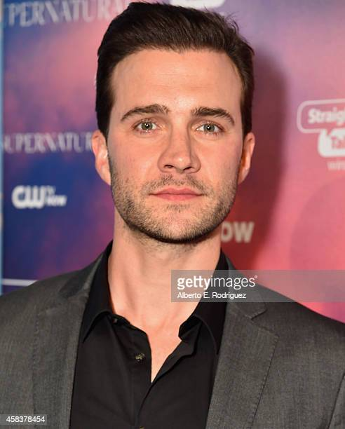 Actor Gil McKinney attends the CW's Fan Party to Celebrate the 200th episode of 'Supernatural' on November 3 2014 in Los Angeles California