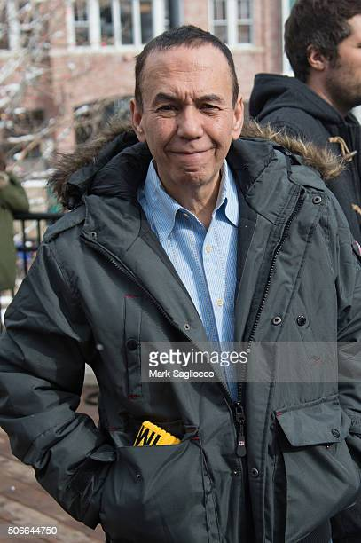 Actor Gilbert Gottfried wearing a Canada Goose parka is seen around town at the Sundance Film Festival on January 24 2016 in Park City Utah