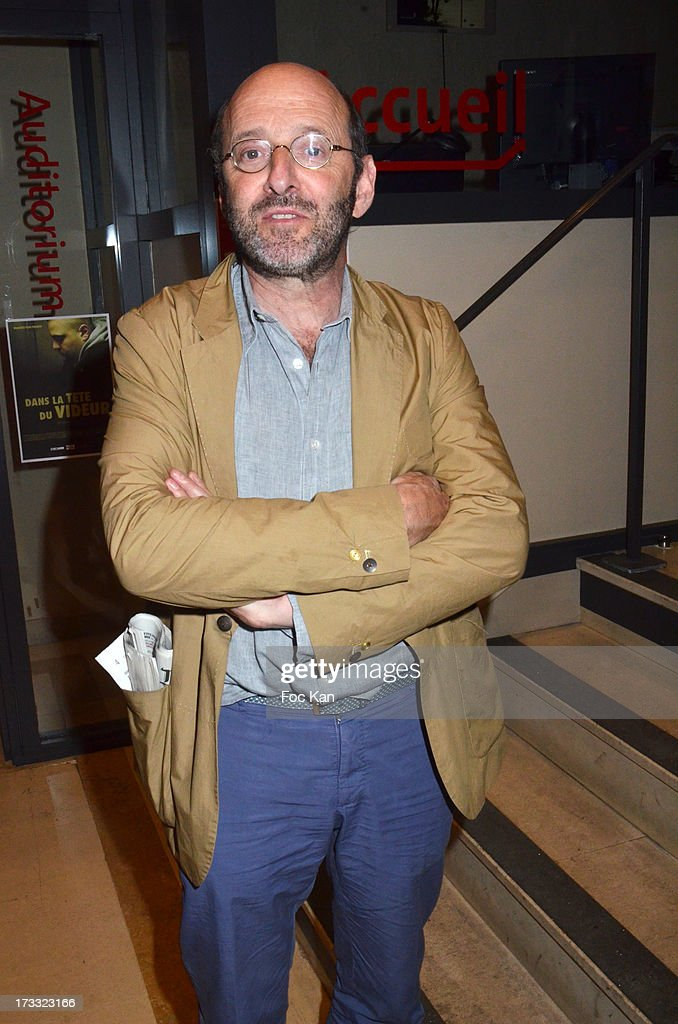 Actor Gilles Gaston Dreyfus attends the ' Florides' : Margot Abascal's Short Movie Screening Cocktail at the SACD on July 11, 2013 in Paris, France.