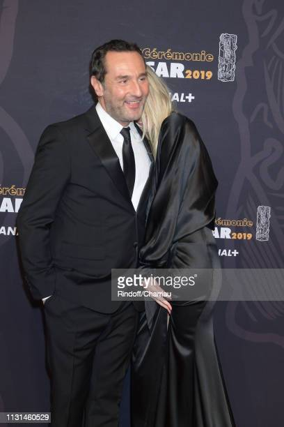 Actor Gilles Lellouche and Alizee Guinochet attends the Red Carpet Arrivals Cesar Film Awards 2019 at Salle Pleyel on February 22 2019 in Paris France