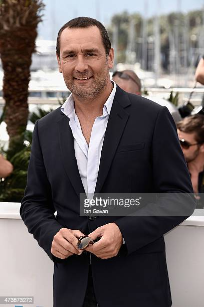 Actor Gilles Lellouche attends the 'Inside Out' Photocall during the 68th annual Cannes Film Festival on May 18 2015 in Cannes France