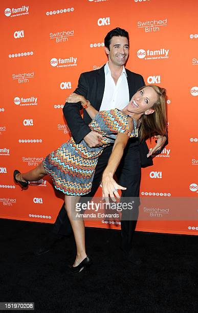 Actor Gilles Marini and actress Marlee Matlin arrive at ABC Family's 'Switched At Birth' Fall Premiere Book Launch Party at The Redbury Hotel on...