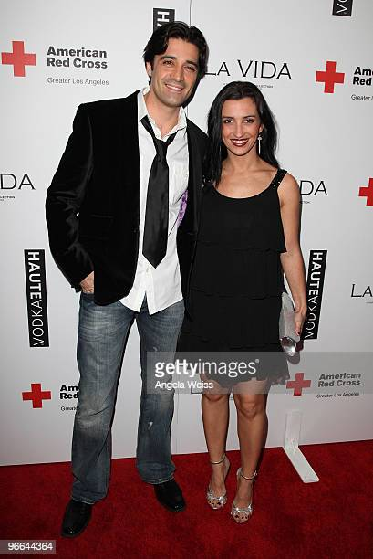 Actor Gilles Marini and his wife Carole attend the grand opening of La Vida restaurant to benefit Haiti Relief and Development at La Vida on February...