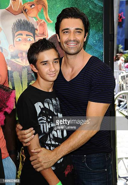 Actor Gilles Marini and son Georges Marini attend the premiere of ParaNorman at AMC CityWalk Stadium 19 at Universal Studios Hollywood on August 5...