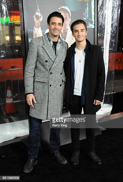 Actor Gilles Marini and son Georges Marini attend the premiere of Warner Bros Pictures' 'Live By Night' at TCL Chinese Theatre on January 9 2017 in...
