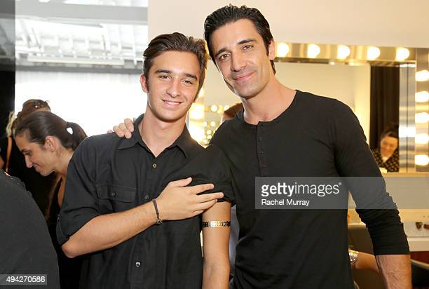Actor Gilles Marini and son Georges Marini get temporary tatoos during the Elizabeth Glaser Pediatric AIDS Foundation 26th Annual A Time For Heroes...