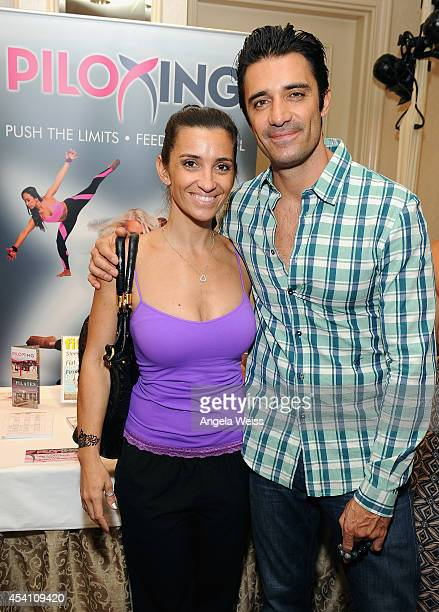 Actor Gilles Marini and wife Carole attend the HBO Luxury Lounge featuring PANDORA Jewelry at Four Seasons Hotel Los Angeles at Beverly Hills on...